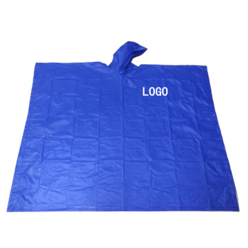 Wolesale Reusable PVC Rain Poncho with Logo Printing
