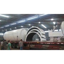 vertical cooling waste tire pyrolysis machine