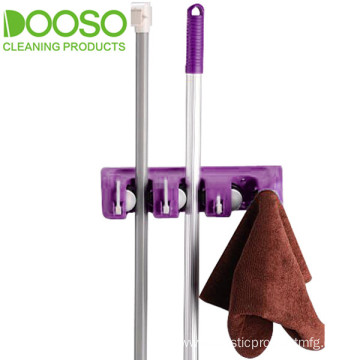 Mini 3 Slots 4 Hooks Mop Holder DS-1803