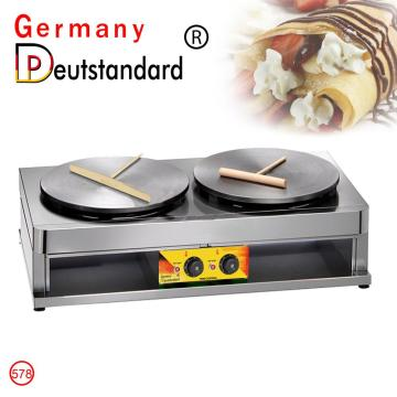 electric double crepe machine with factory price