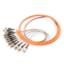 ST 12 Cores Fiber Optic Bundle Pigtail