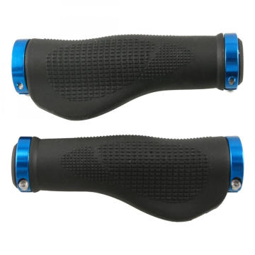 Blue Ergonomic Soft Rubber Bike Handlebar Grip