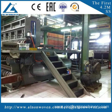 High efficiency AL-4200 SS 4200mm non woven fabric making machine with low price