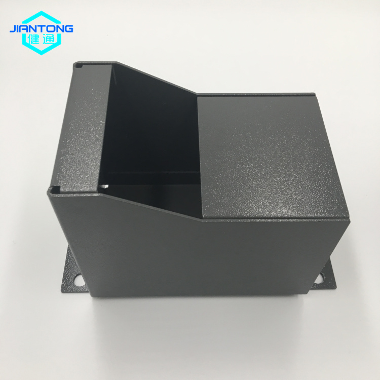 grey powder coated sheet metal box fabrication