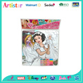 DISNEY PRINCESS colouring puzzle with marker