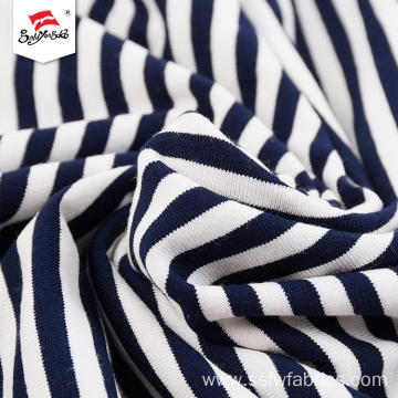 Dyed Black And White Stripe Fabric For Garment
