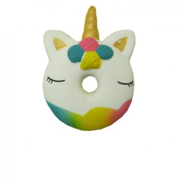 SQUISHY UNICORN DONUT TOY-0