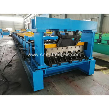 Automatic aluminum steel floor deck profile making machine