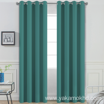 Teal Blackout Curtains with grommet