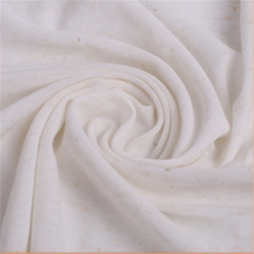 Elegant White Linen Knitted Coarse Jersey Fabrics