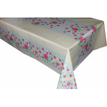 Pvc Printed fitted table covers Round Vinyl Tablecloths