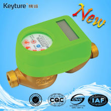 Green Color Mechanical Sealed Valve Smart Water Meter