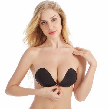 women backless invisible push up bra