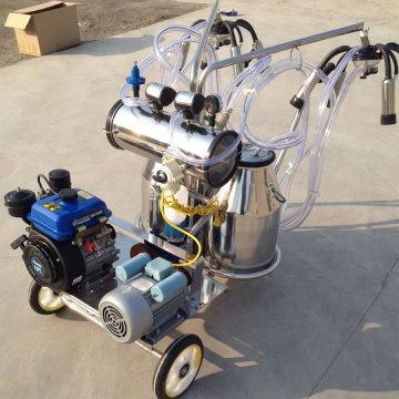 Dual-Typed Gasoline-Vacuum Pump Milking Machine