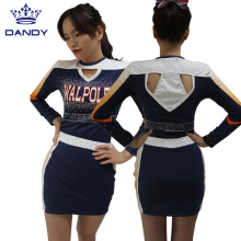 Sublimated orange cheer outfits