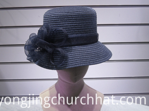 Navy Boater Hat