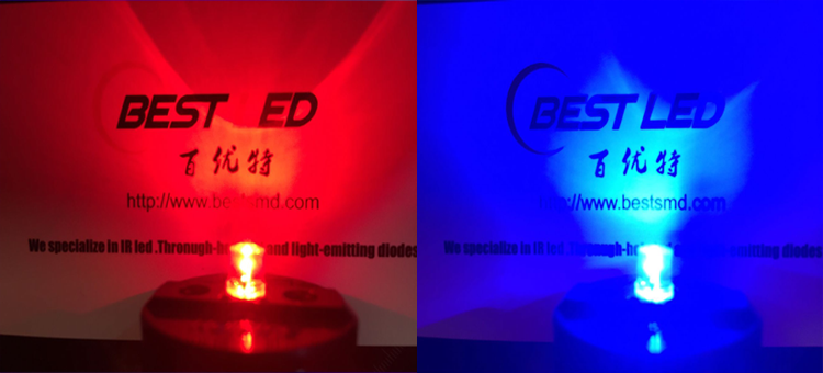 red led&blue led