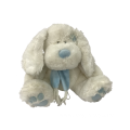 Plush Chubby Rabbit With Pink Blue Scarf