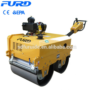 Walk Behind Double Drum Hydraulic Vibratory Mini Road Roller  FYL-S700