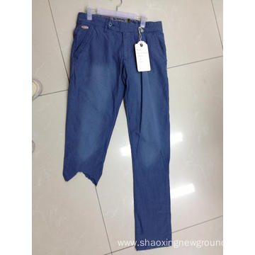 High quality blue cotton men's pant