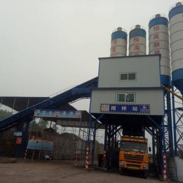 HZS60 precast mini mix concrete batching plant