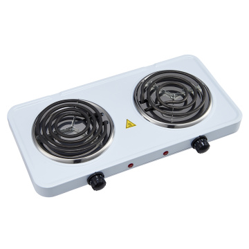 Electric Double Coil Burner Adjustable Temperature Control
