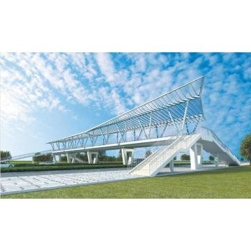 Large Span Prefab Steel Structure Pedestrian Cross Bridge