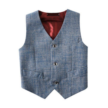 Boys' Solid Grey Basic Vests