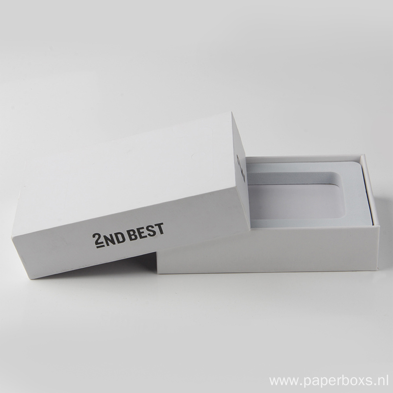 Wholesale White Mobile Phone Holder Packaging Boxes