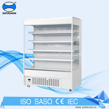 supermarket vertical chiller shelf showcase