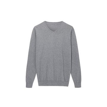 Men's Knitted Sustainable Recycle Polyester V-Neck Pullover