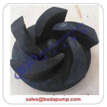 Open rubber slurry pump impeller