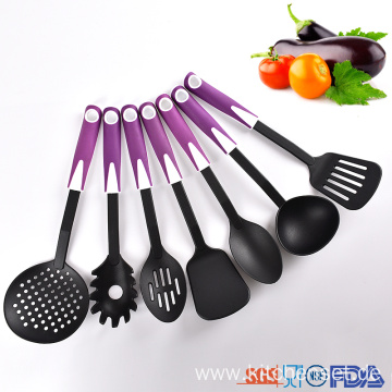durable plastic cooking utensil set for household kitchen