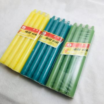 Cheap candles in bulk bright colored taper candles