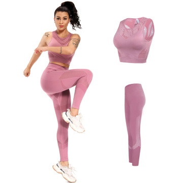2 piece set women yoga gym wear