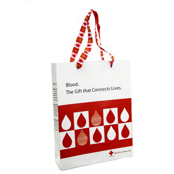 Custom Printed Logo Polka Dot Paper Bag