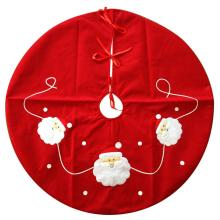 Christmas red santa pattern tree skirt