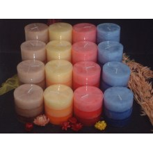 Various Colors of Rustic Pillar Candle