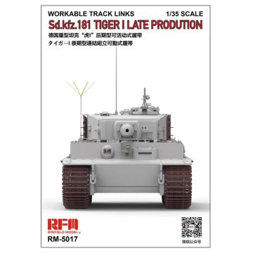 Rye Field Model RFM RM-5017 1/35 Workable Track for Tiger I Late production - Scale model Kit