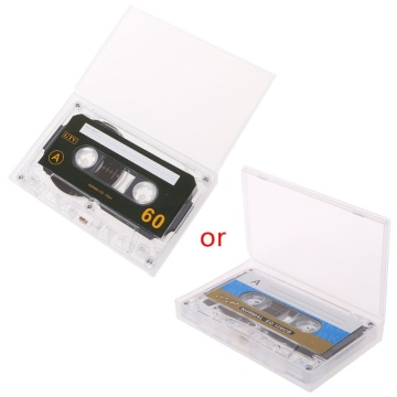 OOTDTY 1PC Plastic Standard Cassette Blank Tape Empty 60 Minutes Audio Recording For Speech Music Player Black New Tapes