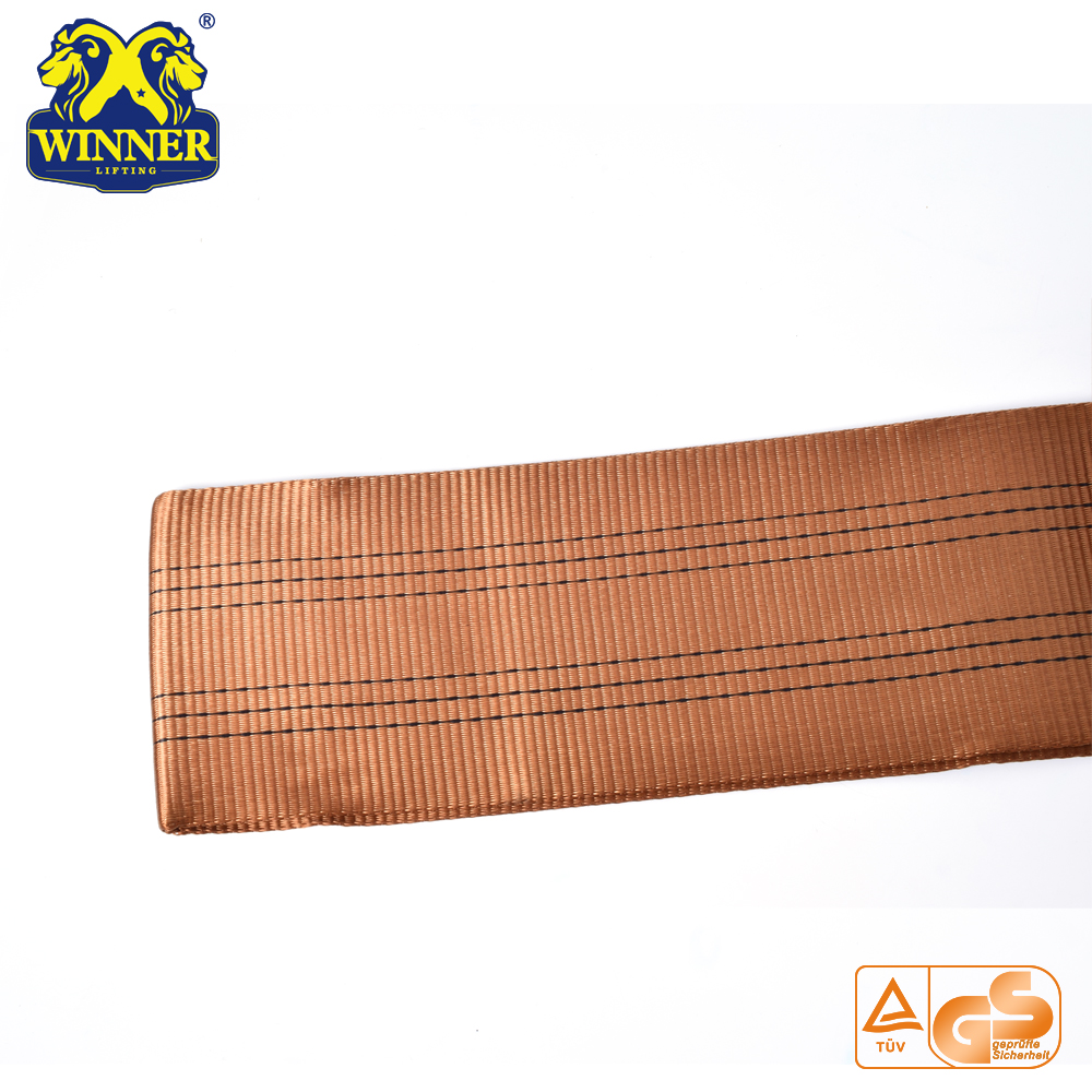 Eye-Eye Polyester Flat Woven Lifting Webbing Sling Belt