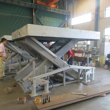 Hydraulic lift table equipment
