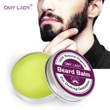 OMY LADY Men Organic Beard Oil Balm Moustache Wax Styling Beeswax Moisturizing Smoothing Gentlemen Natural Beard Balm Beard Care