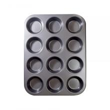 12 Cups Carbon Steel Bakeware For Oven Baking