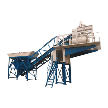 Electric self loading yhzs50 mobile concrete batching plant