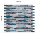 Waterproof 3D Mosaic Self Adhesive Vinyl Wall Tiles