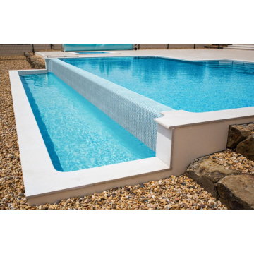 Swimming Pools And Spas Blue Glass Mosaic Stickers