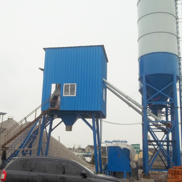 HZS50 precast mini fixed type concrete batching plant