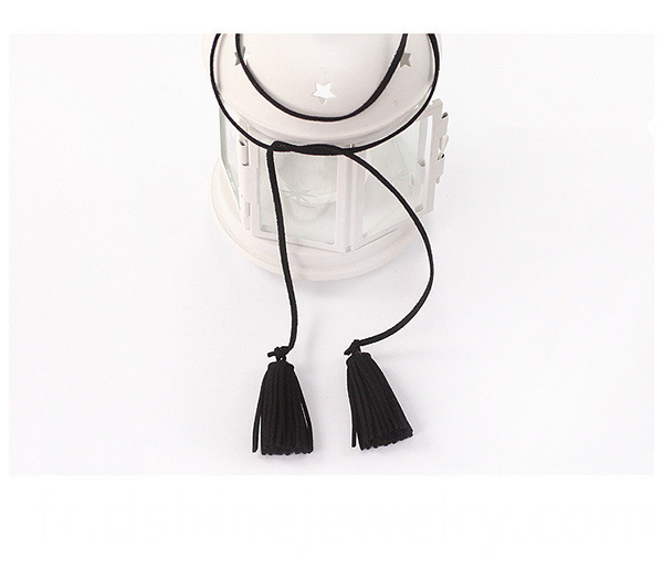 suede fringes necklace, tassel jewelry, long necklace