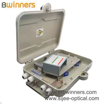 1X16 Plc Splitter Smc Waterproof Outdoor Fiber Optical Splitter Distribution Box For Ftth Optical Project